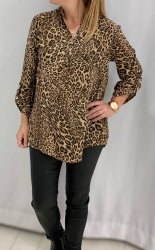 Lettie - Topp - Leopard - Taupe